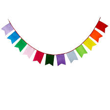 12 flags 3 5m rainbow colors five corner nonwoven fabric bunting