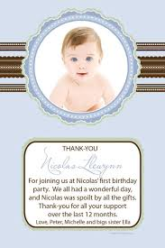 baby birth baptism birthday thank you photo cards for boys