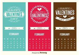 mini valentines day calendar cards free vector
