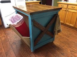 kitchen kitchen island with trash storage for astonishing