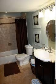 bathroom shabby stone circular tub plus glass shower enclosure