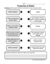 ideas collection matter worksheets grade 5 also form