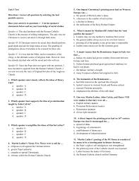 thesis of martin luther unit 3 test directions answer all questions by selecting the best