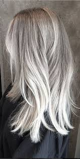 blonde hair with silver highlights embracing the grey fox bow