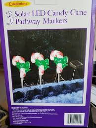 Candy Canes Lights Outdoor by Candy Cane Pathway Lights Christmas Driveway Markers Outdoor