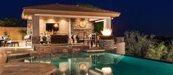 Kitchen With Fireplace Designs by Phoenix Landscaping Design U0026 Pool Builders Pool Remodeling