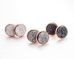 druzy stud earrings gold stud earrings druzy studs gold studs druzy stud
