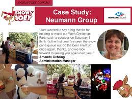 work christmas party ideas neumann group case study