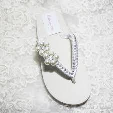wedding flip flops cheap simple wedding shoes white ivory satin flip flops for