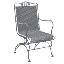 Woodard Wrought Iron Patio Furniture - briarwood high back coil spring chair woodard furniture