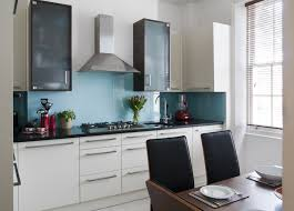 wonderful blue backsplash tiles and white cabinet kitchen color