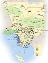Zip Code Los Angeles Map map of los angeles county world map
