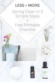 less u003d more spring clean in 3 simple steps free printable