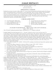 Banking Resume Template Resume For Children Place Linux Resume In Vieginia An