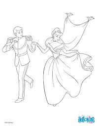 cinderella and the prince coloring pages hellokids com