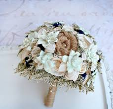 rustic wedding bouquets rustic wedding bouquet mint navy bridal bouquet dried