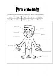 esl worksheets label body parts worksheets aquatechnics biz