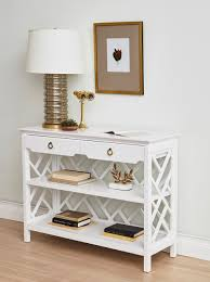 nantucket console table white bungalow 5 furniture