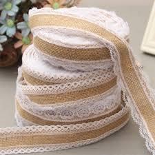 burlap and lace ribbon online shop 5x500cm jute burlap hessian lace ribbon roll
