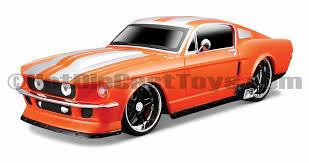 maisto 1 24 r c 1967 ford mustang gt orange diecast toys