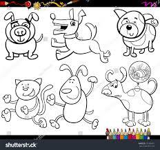coloring book cartoon vector illustration set stock vector