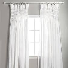 Tie Top White Curtains Pom Pom At Home Tie Top Linen Voile Curtain Panels Ship Free