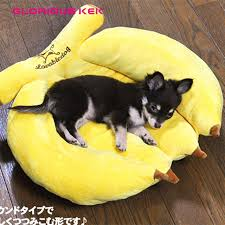 new fancy banana dog beds for small dogs and cats brand plush warm