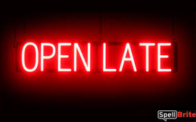 open late signs spellbrite led better than neon