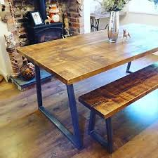 dining table and bench set industrial style dining table and bench set ebay