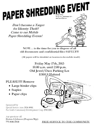 where to shred papers for free get your paper shredded for free in west pullman shorty your