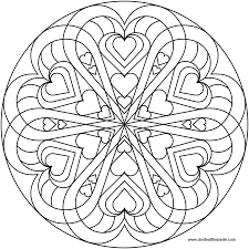 love mandala coloring pages kids coloring