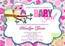 owl baby shower pink owl baby shower invitation owl baby girl shower