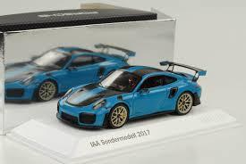 2017 porsche 911 991 gt2 rs weissach blue iaa frankfurt 1 43 spark