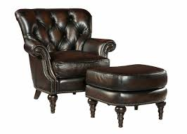 leather accent chair with tufted back design club furniture