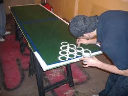 Beer Pong Table Build BPONG - Beer pong table designs