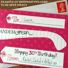 30th birthday card by tandem green notonthehighstreet com