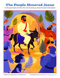 jesus triumphal entry into jerusalem puzzle bible activities for