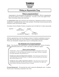 what is the thesis statement six elements of a good argument