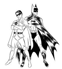 batman and robin coloring pages free asoboo info