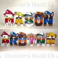 Paw Patrol Room Decor Custom Wooden Letters Hanging Paw Patrol Wood Letter For Nursery