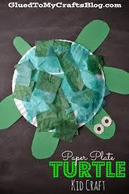 paper plate turtle kid craft