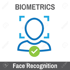 biometric scanning recognition royalty free cliparts
