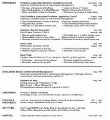 Sample Resume Of A College Student by Wonderful Design Sample Resume For College Student 10 Example Cv