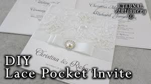 wedding invitation pockets how to make a lace pocket wedding invitation diy invitations