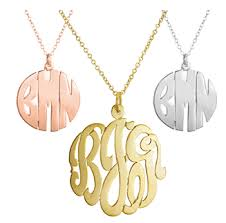 circle monogram necklace 7 8 pendant monogrammed necklace