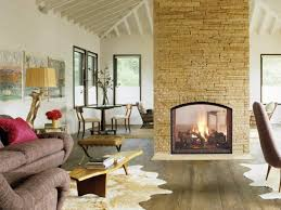 double sided fireplace an unusual solution for a large rooms