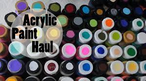 acrylic paint haul hobby lobby michael u0027s u0026 walmart youtube