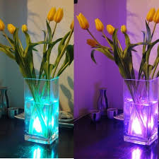 flower arrangements with lights singpad lot of 4 rgb submersible led lights battery powered led