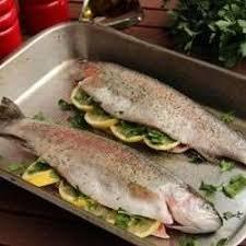 cuisiner des truites truite arc en ciel farcie cuite au four recettes allrecipes québec