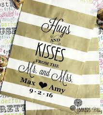 personalized wedding favor bags personalized wedding favor bags hugs kisses from new mr mrs